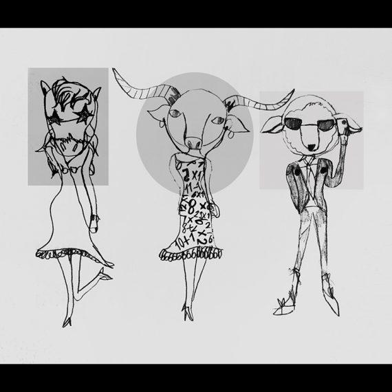 La fée-fille Animal geek Les fées mères décalque mural illustration